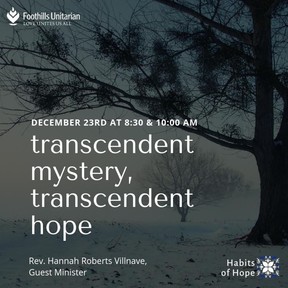 Transcendent Mystery, Transcendent Hope Image