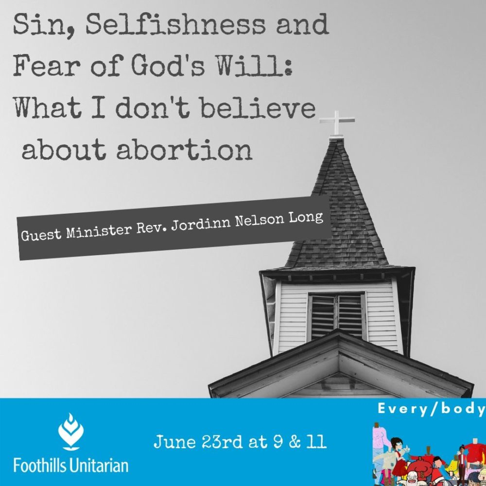 Sin, Selfishness, and Fear of God\'s Will: What I Don\'t Believe About Abortion Image