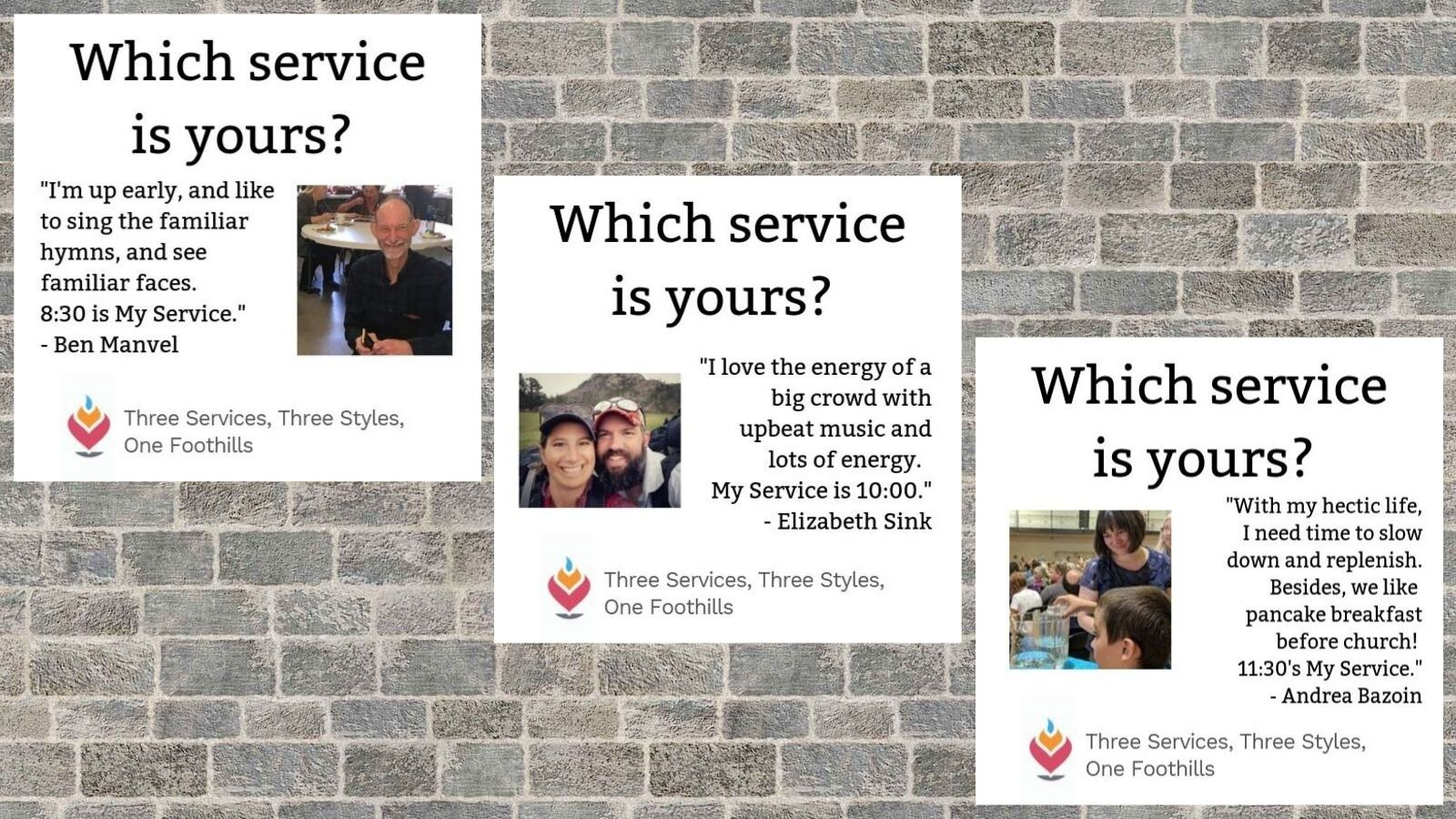 Which Service is Yours?