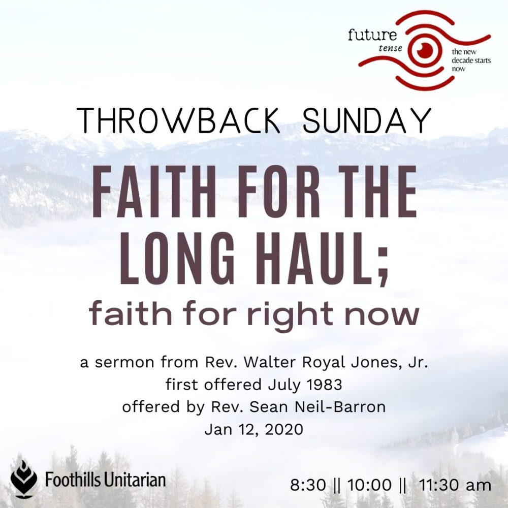 Faith for the Long Haul; Faith for Right Now (10am)