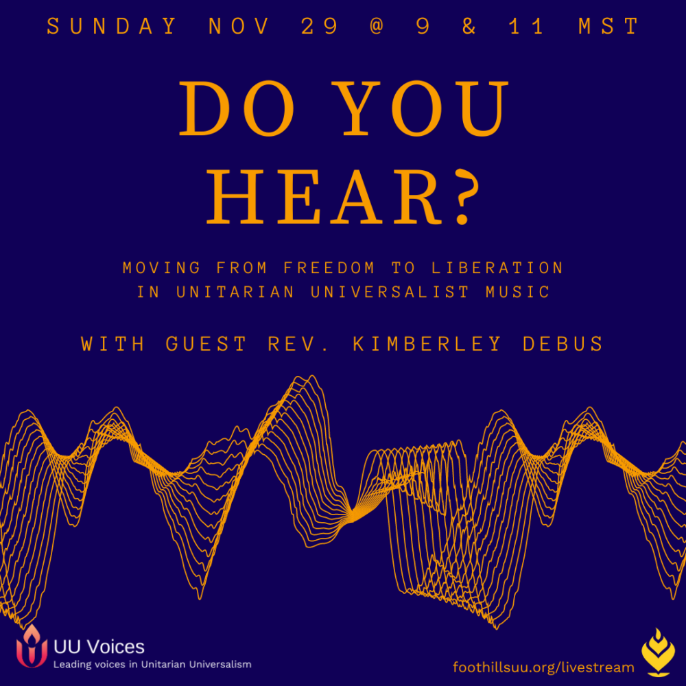 Homily Part 2: Do You Hear? | Rev. Kimberley Debus | November 29, 2020
