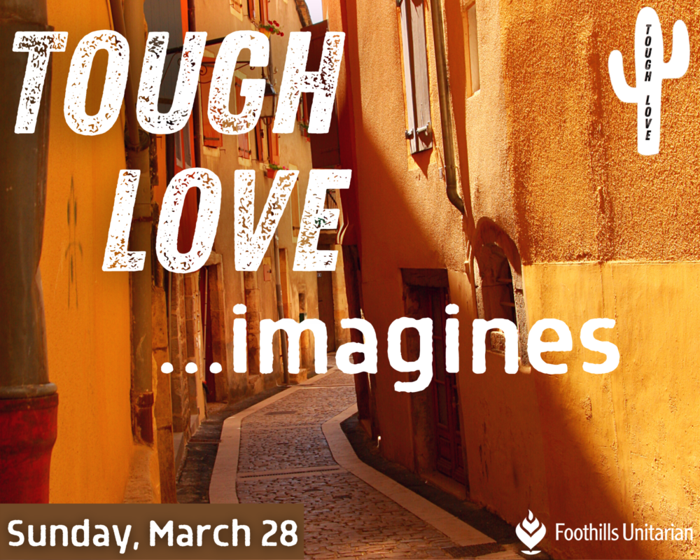 Homily: Tough Love Imagines Part One | Rev. Elaine Aron-Tenbrink | March 28, 2021 Image