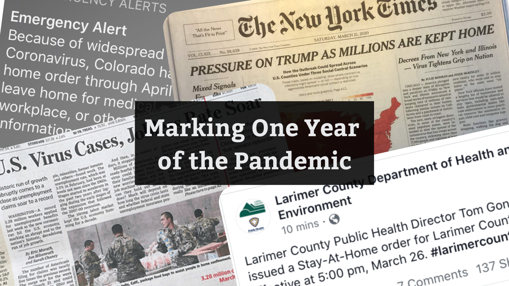 Marking One Year of the Pandemic