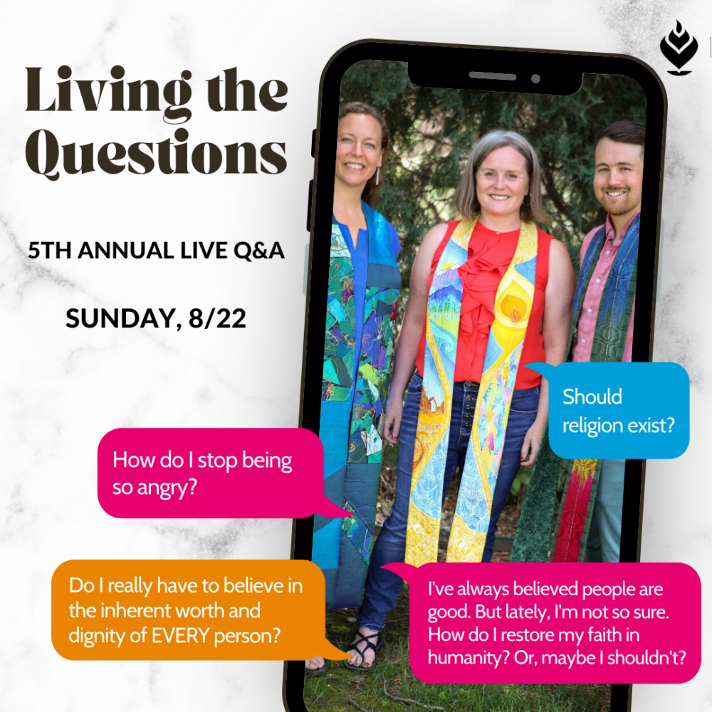 Reflection: On Living the Questions | Rev. Sean Neil-Barron | August 22, 2021 Image