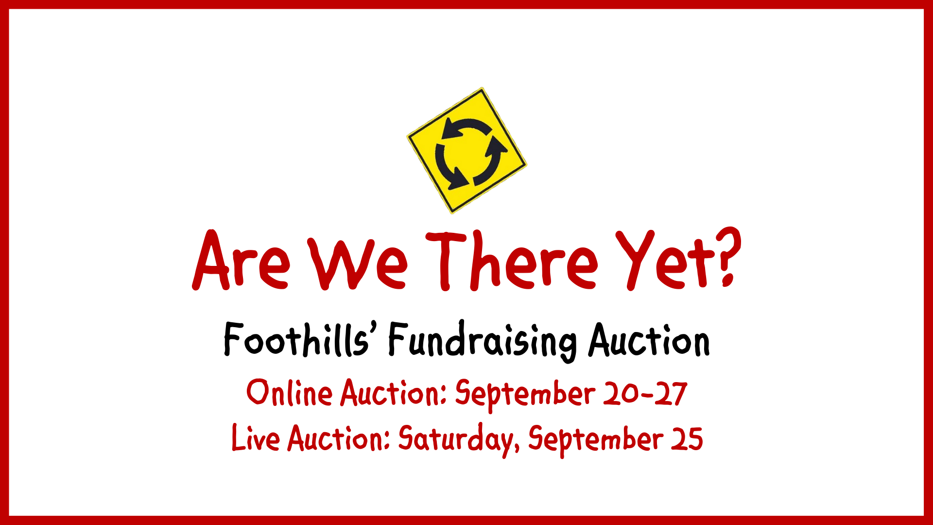 The Online Auction Catalog is Live!